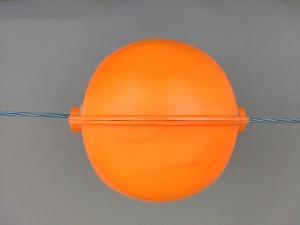 Вид сбоку шара-маркера